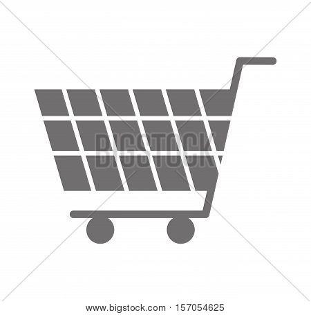 shopping cart commercial icon vector illustration design