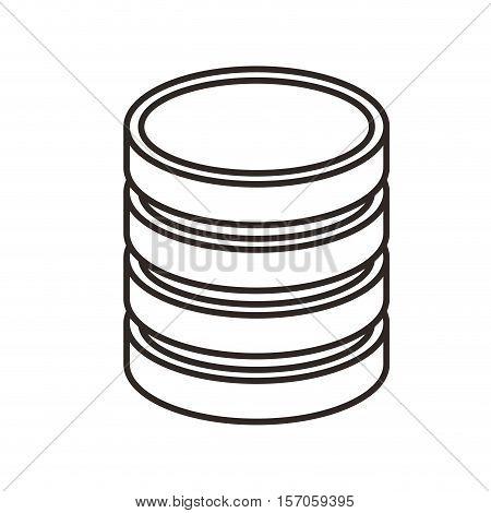 data center disk isolated icon vector illustration design
