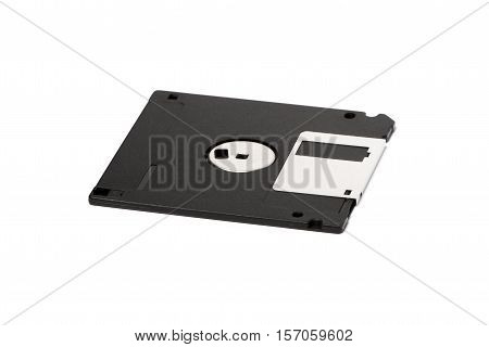 One Black And Silver Floppy Disk