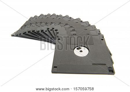Heap Of Black Floppy Disks