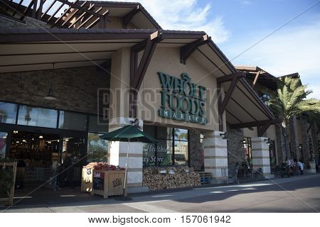 Del Mar, California - December 27, 2015 Whole Foods Market in Del Mar California.