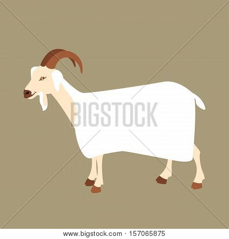 goat vector illustration style Flat side profile