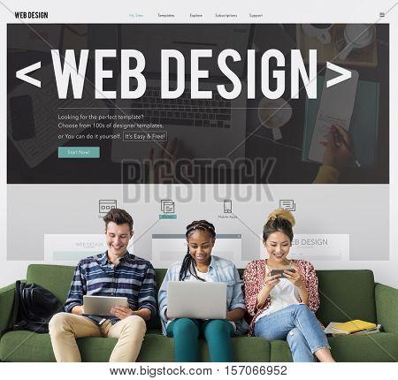 Web Design Creativity Ideas Programming Software Template Interface Concept