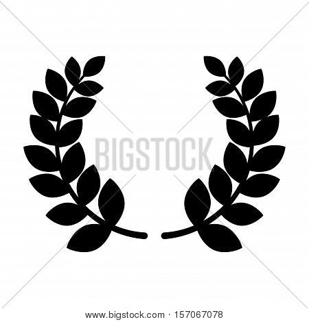 wreath crown award icon vector illustration design