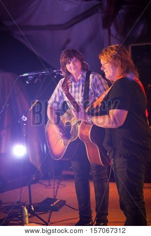 Amy Ray And Emily Saliers Play Guitar