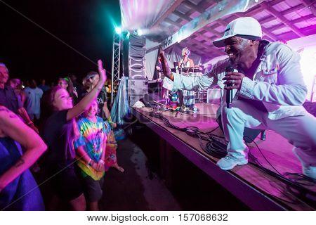 Pato Banton Singing At Concert
