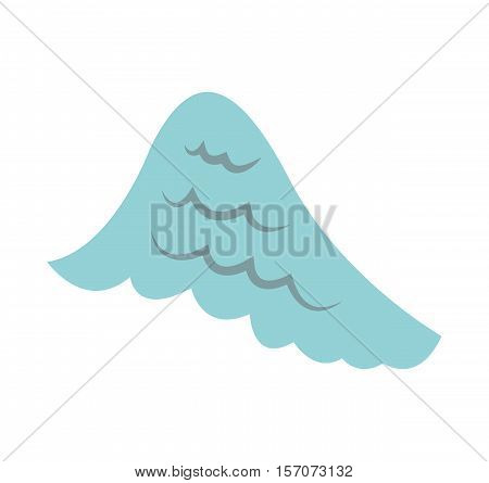 angel wing isolated icon vector illustration design