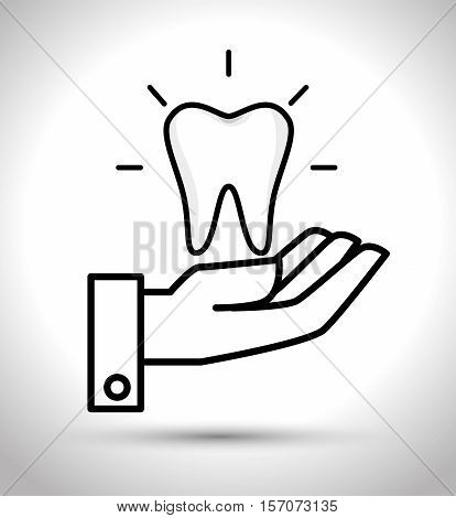 care tooth odontology service vector illustration eps 10