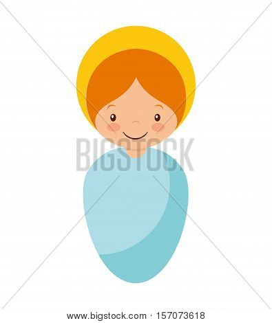 jesus baby manger character vector illustration design