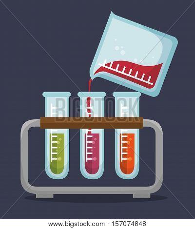 set test tube rack liquid vector illustration eps 10