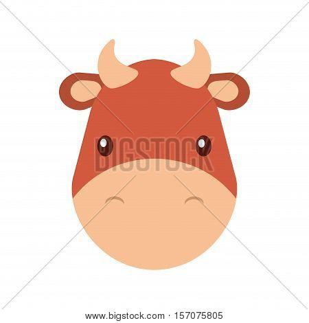 cute ox manger character vector illustration design