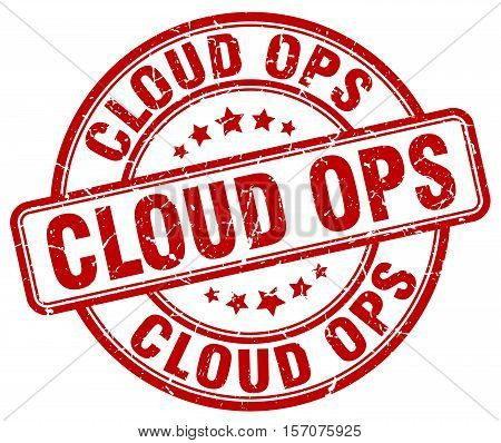 cloud ops. stamp. square. grunge. vintage. isolated. sign