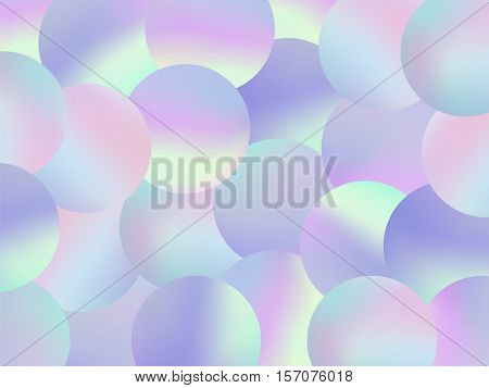 Holographic Bubbles Background Pastel Fashion Wallpaper 4