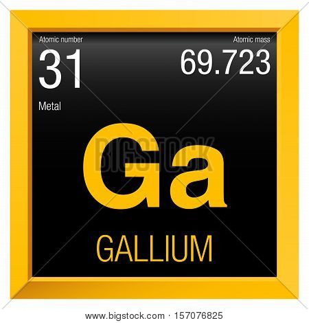 Gallium symbol element number 31 vector photo bigstock gallium symbol element number 31 of the periodic table of the elements chemistry urtaz Choice Image