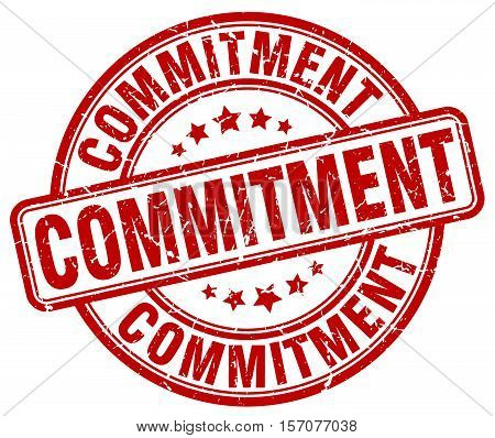 commitment. stamp. square. grunge. vintage. isolated. sign