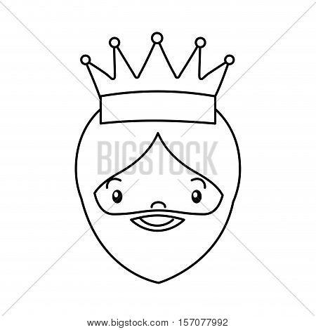 wise man epiphany manger character vector illustration design