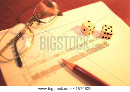 Making A Business Decision With A Chart And Dice