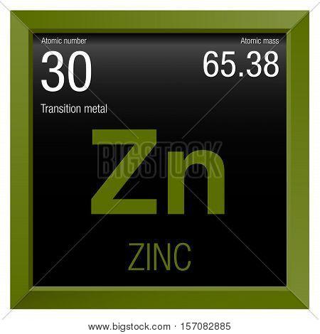 Zinc Symbol Element Vector Photo Free Trial Bigstock