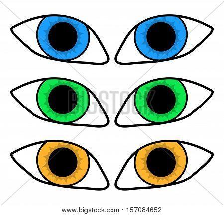 Eye Silhouette Vector Symbol Icon Design.