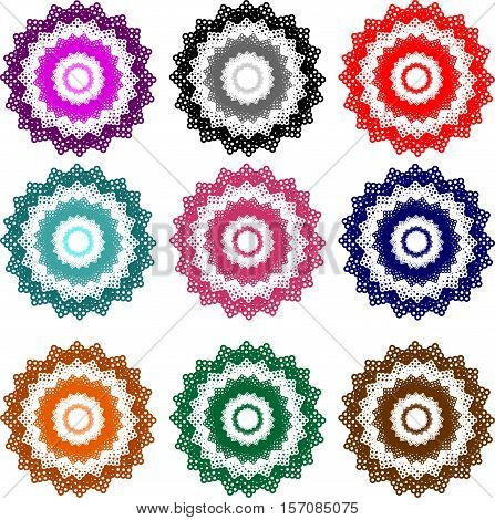 colorful floral designs in vector format for you