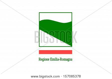 Flag of Emilia-Romagna is an administrative Region of Northern Italy