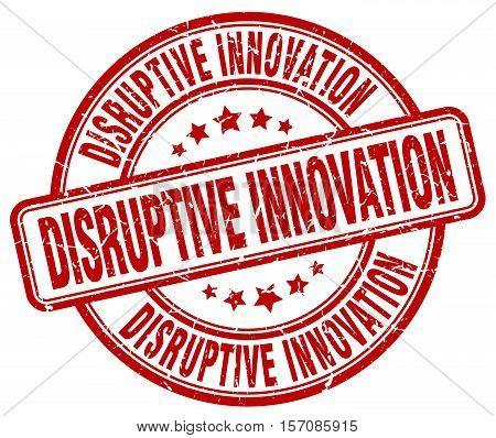 disruptive innovation. stamp. square. grunge. vintage. isolated. sign