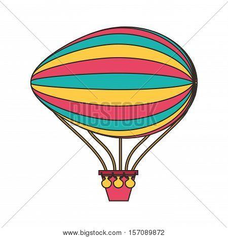 balloon air zeppelin isolated icon vector illustration design