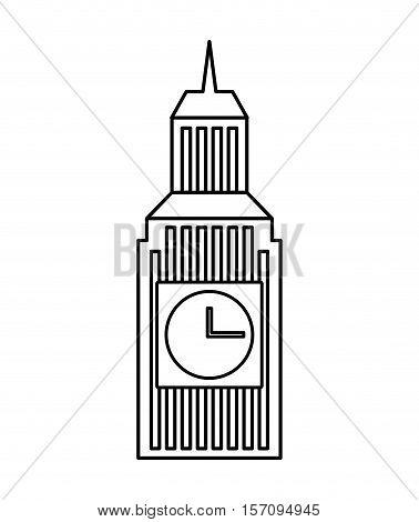 big ben building england vector illustration design