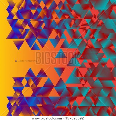 Colorful abstract background consisting of triangles with gradient fill