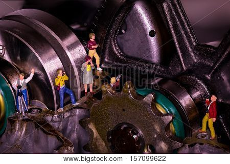 Photo expedition inside a engine under restauration