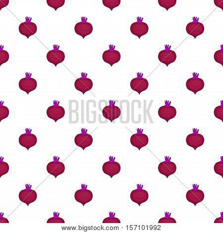 Beetroot pattern. Cartoon illustration of beetroot vector pattern for web