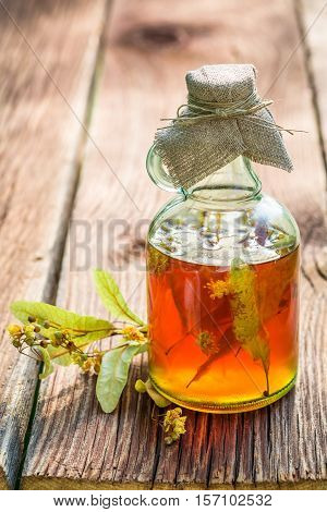 Healthy Tincture In Bottles As Homemade Cure