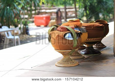 Buddhist Monk ' s Alms Bowl .
