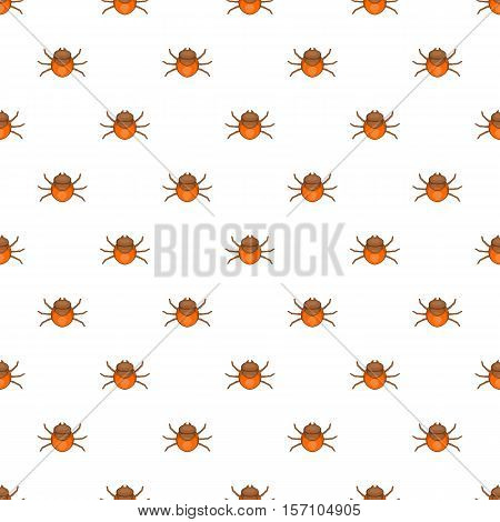 Mite pattern. Cartoon illustration of mite vector pattern for web
