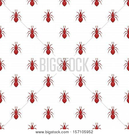 Ant pattern. Cartoon illustration of ant vector pattern for web
