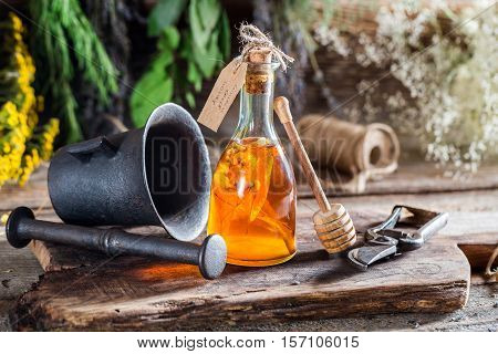 Therapeutic Tincture In Bottles As Homemade Cure