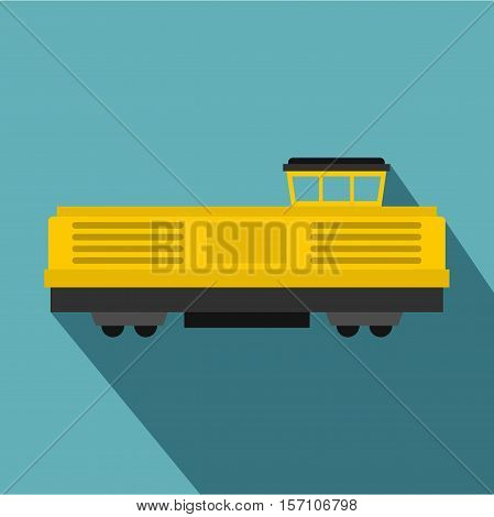Freight train icon icon. Flat illustration of freight train vector icon for web design