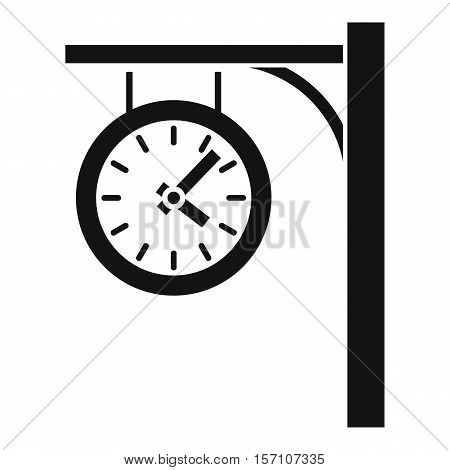 Station clock icon. Simple illustration of station clock vector icon for web design