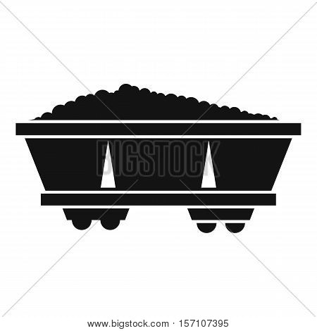 Coal trolley icon. Simple illustration of coal trolley vector icon for web design