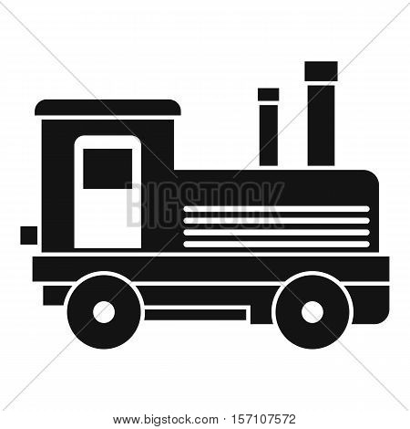 Locomotive icon. Simple illustration of locomotive vector icon for web design