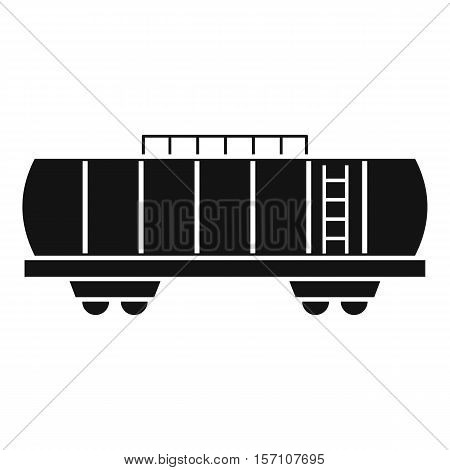 Oil railway tank icon. Simple illustration of railway tank vector icon for web design