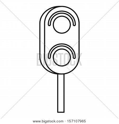 Semaphore trafficlight icon. Outline illustration of semaphore vector icon for web design