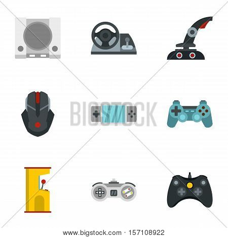 Fantasy games icons set. Flat illustration of 9 fantasy games vector icons for web