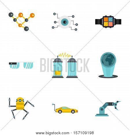 Latest electronic devices icons set. Flat illustration of 9 latest electronic devices vector icons for web