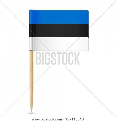Estonia flag. Flag toothpick 10eps. Isolated on white background