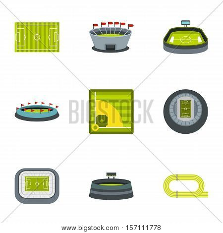 Championship icons set. Flat illustration of 9 championship vector icons for web