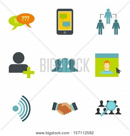 E-mail icons set. Flat illustration of 9 e-mail vector icons for web
