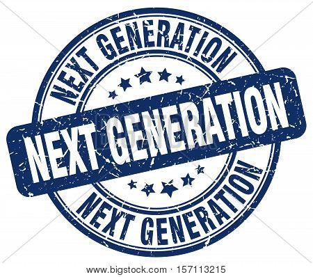 next generation. stamp. square. grunge. vintage. isolated. sign