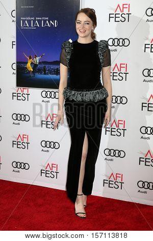 LOS ANGELES - NOV 15:  Emma Stone at the