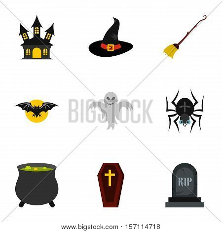 Resurrection of dead icons set. Flat illustration of 9 resurrection of dead vector icons for web